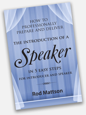 Mattson Introduction of a Speaker
